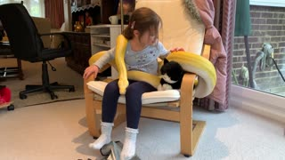 Little Girl and Python are Pals