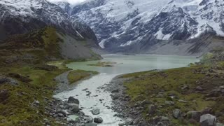 A River Formed From a Snow Mountains.