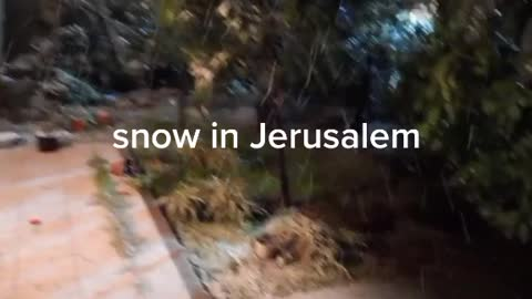 Snow in Jerusalem Israel February 17. 2021