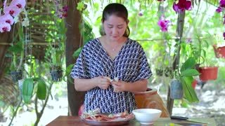 Amazing Crab Meat Flour Frying Recipe - Cooking With Sros