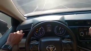 Toyota camry drift 200km/h inside view