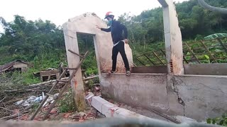 Pushing Over Broken Wall Ends with Broken Leg