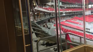 Mercedes Benz Stadium being built