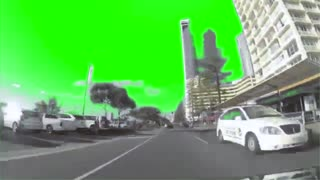 Green Screen Super Fast Car driving down Surfers Paradise