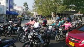 Protesta de mototaxistas