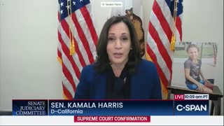 "Kamala Harris Whines About ""Illegitimate"" Confirmation Hearing"