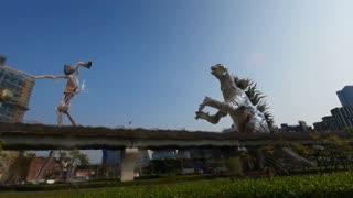 Godzilla vs Siren Head in real life Super