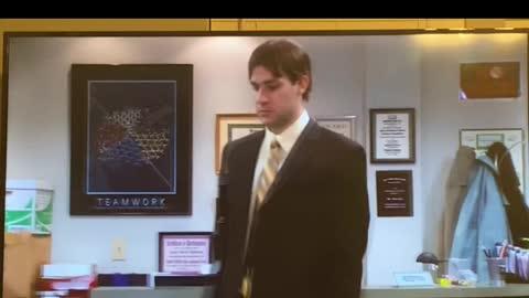 The Office- Jim looks like Dwight