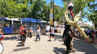 Street performers in Santiago, Chile