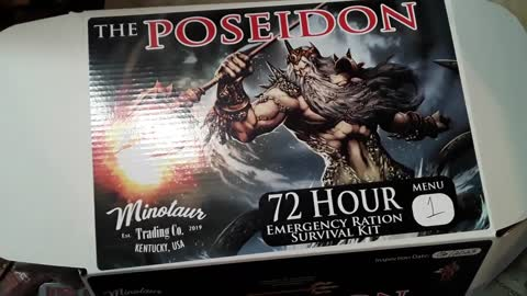 Unboxing the 72 hour ration The Poseidon