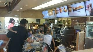 Fast Food Restaurant Fight