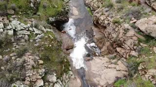 Flyover of Mildred Falls San Diego County