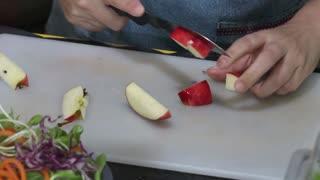 Cut Corn Prepare Salad ..