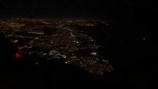 Night flight over Florida