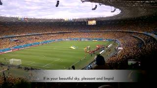 Brazilian national anthem in English