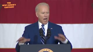 Flying into a rage Biden quotes Declaration of Independence but can't get to 'pursuit of happiness'.