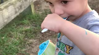 Boy's First Ice Cream