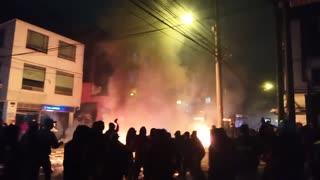 Protestas en Bogotá durante este miércoles