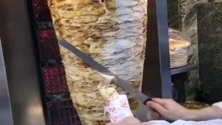 Arab shawarma in Turkish markets is very delicious 😍😍