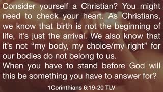Not my body, not my choice, not my right!