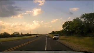 WILD Dashcam Video of Human Smuggler Car Chase Ends with a Dozen Illegals Spilling Out of Van ..!!!