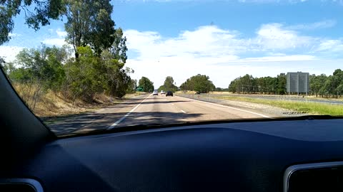 On the Hume freeway to Sydney
