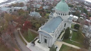 Aerial Views Annapolis Maryland and United States Naval Academy