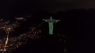 OUTRAGE: Christ the Redeemer lit up with vaccine message!