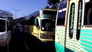 paro buses y taxis | autopista Piedecuesta - Floridablanca