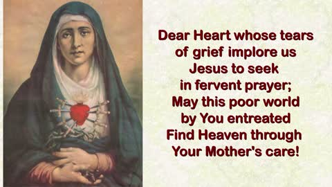 To the Sorrowful Heart of Mary