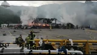 Video: Reportan fuertes explosiones en la vía a Chimitá 3