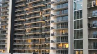 Midtown Atlanta Cheers for Frontline Workers