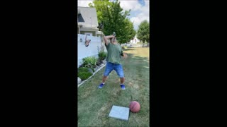 Guy Absolutely Aces Basketball Beverage Stunt