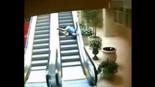 Fuhrer Joe Biden using the Escalator