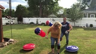 Backyard Bout with Blow Up Toys