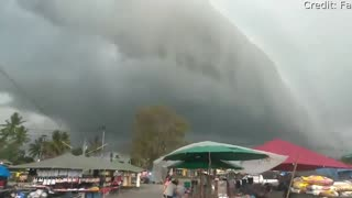 Crazy Clouds Converge Over Thailand