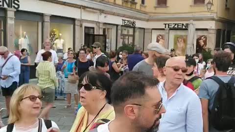 Venezia campo San Geremia davanti la sede della Rai,