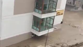 Heavy downpours trigger severe flooding in Turkey's Black Sea region.