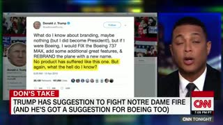 Lemon rips Trump over comments on Notre Dame fire