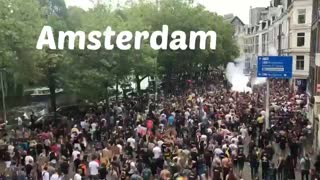 Amsterdam Vaccine Passport/COVID Regulation Protest August 21, 2021