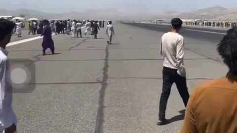 Disturbing Video Shows Desperate Afghanis Clinging to U.S. C-17 Before Plummeting to Their Deaths