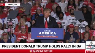 Trump scorches Warnock for silence on the border crisis