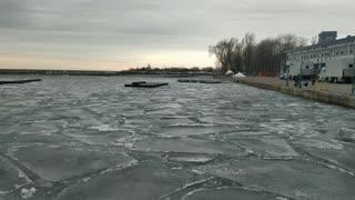 Frozen Ontario lake