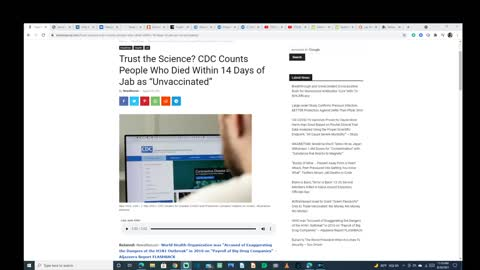 CDC Count Hospitalized Vaccinated As Unvaccinated To Push Fear