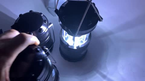 Etekcity Lantern Camping Lantern Battery Powered 360 degree Flash Lights for Power Outages