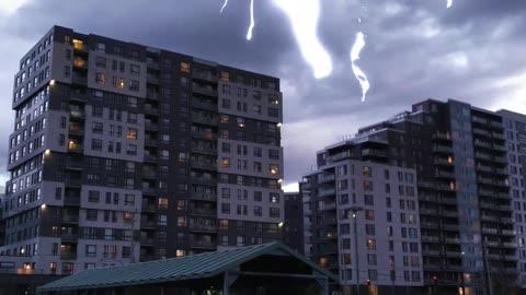 Lightning bolt in slow motion