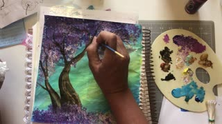 Let's Bible journal Psalm 1 (from Lovely Lavender Wishes)
