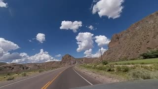 POV Driving Leaving Caliente Nevada going towards Ely Nevada