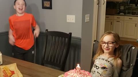 Birthday crack up