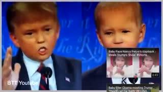 Young Trump Debating Young Biden
